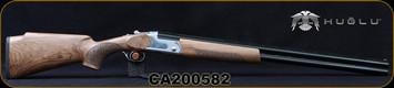 "Huglu - 12Ga/3""/28"" - S12E - Full Size Over/Under - Turkish Walnut Monte Carlo Stock/Silver Receiver/Chrome-Lined Barrels, Ejectors, 5pcs Mobile Choke, SKU# 8681715390840MC, S/N CA200582"