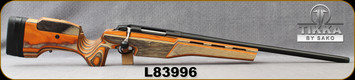 "Used - Tikka - 260Rem - T3X Sporter - Orange Laminate Stock w/Adjustable cheekpiece w/integrated memory feature/Blued, 23.7""Threaded(18x1) Heavy Barrel, 1:8""Twist, Detachable 5rd magazine, single set trigger - in original box"