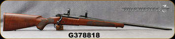 "Consign - Winchester - 300WSM - Model 70 Featherweight - Bolt Action Rifle - Walnut Stock/Blued, 24""Barrel, c/w 1""Rings and bases, original box - only 60 rounds fired"