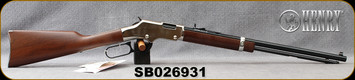 "Henry - 22S/L/LR - Golden Boy Silver - Lever Action Rifle - American Walnut Stock/Nickel Plated Receiver/Blued, 20"" Barrel, 16 Rounds, Mfg# H004S, S/N SB026931"