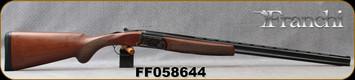 "Franchi - 410Ga/3""/28"" - Instinct L - O/U - A-Grade Satin Walnut, Prince-of-Wales Stock/Case Hardened Receiver/Blued Barrels, 3pc chokes, Ejectors, Mfg# 40812, S/N FF058644"