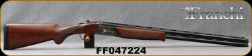 """Franchi - 12Ga/3""""/28"""" - Instinct LX - O/U - Checkered AA-Grade walnut stock w/Schnabel forend/Case Hardened Receiver w/Gold Inlay/Gloss Blued Vented Barrels, Ejectors, Extended chokes(F,IC,M), Mfg# 41160, S/N FF047224"""