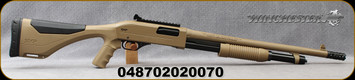 "Winchester - 12Ga/3""/18"" - SXP Extreme Defender FDE - Pump Action - Flat Dark Earth Finish, Picatinny rail w/ghost ring sight, includes heat shield, Mfg# 512410395"