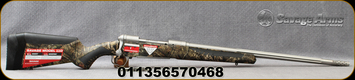 """Savage - 338WinMag - Model 110 Bear Hunter - Bolt Action Rifle - MOBUC Camo Synthetic Adjustable AccuFit AccuStock/Matte Stainless Finish, 23""""Fluted, Threaded Barrel, 2 Round Hinged Floorplate, Adjustable Muzzle Brake, Mfg# 57046"""