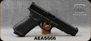 "Used - Glock - 9mm - Model G34 Gen5MOS - Semi-Auto Pistol, Black Modular Grips w/interchangeable Backstrap, nDLC Finish, 5.31"" Barrel, 10 Rounds, White dot front sight, Adjustable White-Outline rear sight, (3)10rd magazines, Mfg# UA343010 0982-0914 -"