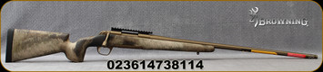 """Browning - 6.5PRC - X-Bolt Hell's Canyon Long Range McMillan - Bolt Action Rifle - A-TACS AU Camo Premium McMillan Game Scout stock/Cerakote Burnt Bronze finish, 26""""Fluted Barrel, 3 round detachable magazine, Mfg# 035395294"""