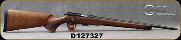 "CZ- 22LR - 457 Royal - Bolt Action Rifle - Bolt Action Rimfire Rifle - Turkish Walnut, European Style Stock/Blued, 20""Threaded Barrel - 5rd Detachable Magazine - Mfg# 5084-8081-HKAMEAX, S/N D127327"