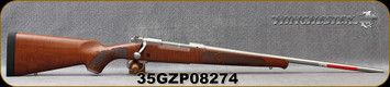 "Winchester - 270Win - Model 70 Featherweight Stainless Dark Maple - Satin finish AAAA Dark Maple stock/Matte Stainless, 22""Barrel, 5 round Hinged Floorplate, Mfg# 535236226, S/N 35GZP08274"