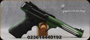 "Browning - 22LR - Buck Mark Lite Green URX - Semi-Auto Pistol - Black Ultragrip RX ambidextrous grips/Matte Green Anodized Finish, 5.5""Fluted Barrel, Mfg# 051516490"