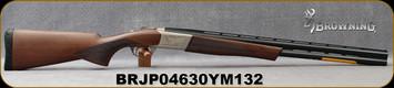 "Browning - 12Ga/3""/26"" - Cynergy Feather - O/U Break Action Shotgun - Satin Finish Grade I Walnut Stock/Low-Profile nickel-plated alloy receiver/Blued Barrels, Vent Rib Barrels, Mfg# 018703305, S/N BRJP04630YM132"
