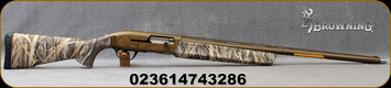 "Browning - 12Ga/3.5""/28"" - Maxus Wicked Wing - Mossy Oak Shadow Grass Habitat - Semi Auto Shotgun - Composite Mossy Oak Shadow Grass Habitat Camo/Burnt Bronze Cerakote Finish, 4 Round Capacity, Banded Invector Plus Extended Chokes (F,M,IC) Mfg#011697"