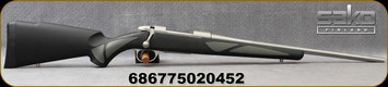 """Sako - 7mm-08Rem - 85/S Finnlight - Bolt Action Rifle -  Black Synthetic w/Soft Touch Panels/Stainless, 20.4""""Cold Hammer Forged, Fluted,Light Hunting Contour Barrel, 5+1 Round Capacity, Single Stage Trigger, Mfg# JRS1Q52/SBV26NL1A"""