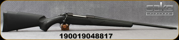 """Sako - 270Win - Synthetic Black - Bolt Action Rifle - Black Synthetic Stock/Matte black, 22.4""""fluted barrel, 1:10""""Twist, Single Stage Trigger, Mfg# SAW21SL1A"""