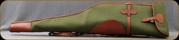 Flora Int. - Canvas Scope Rifle Case w/Buffalo Leather Trimming - Green