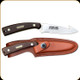 """Old Timer - Guthook Skinner Fixed Blade - 3.5"""" Drop Point - 7Cr17MoV High Carbon Stainless Steel -  Black Sawcut Handle - 158OT"""