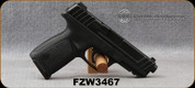 """Used - Smith & Wesson - 9mm - Model SD9 Range Kit - Single Action Semi-Auto - Black Textured Grips/Black Finish, 4.25""""Barrel, c/w (3) magazines, loader - only 10 rounds fired - in original box"""
