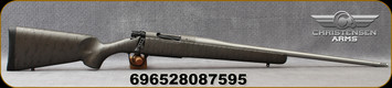 "Christensen Arms - 308Win - Mesa Titanium - Bolt Action Rifle - Metalic Grey W/Black Webbing Carbon Fiber Composite/Bead Blasted Stainless, 22""Threaded Barrel, Radial Muzzle Brake, 1:10""Twist, Mfg# 801-01025-00"