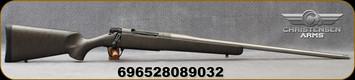 "Christensen Arms - 300PRC - Mesa Titanium - Bolt Action Rifle - Metalic Grey W/Black Webbing Carbon Fiber Composite/Bead Blasted Stainless, 24""Threaded Barrel, Radial Muzzle Brake, 1:8""Twist, Mfg# 801-01065-00"