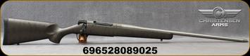 "Christensen Arms - 7mmRM - Mesa Titanium - Bolt Action Rifle - Metalic Grey W/Black Webbing Carbon Fiber Composite/Bead Blasted Stainless, 24""Threaded Barrel, Radial Muzzle Brake, 1:9""Twist, Mfg# 801-01064-00"