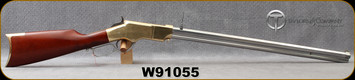 """Taylor's & Co - 44-40 - Model 1860 Henry White - Lever Action - Walnut Stock/Brass Receiver/white heat-treated steel, 24.25""""Barrel, Rear Ladder Sight, Blade Front Sight, Mfg# 0239W01, S/N W91055"""