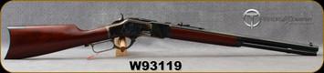 "Taylor's & Co - Uberti - 32WCF - Model 1873 Short Rifle - Lever Action Rifle - Walnut Stock/Forearm/Case Hardened Frame/Blued Finish, 20"" Octagon Barrel, 10 Round Capacity, Mfg# 293, S/N W93119"