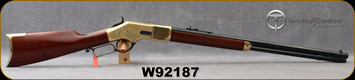 """Taylor's & Co - 38Spl - 1866 Winchester Rifle - Lever Action - Walnut Rilfe-Style Stock/Brass Frame, Forend Cap & Butt Plate/Case Hardened Lever & Hammer/Blued, 24.25""""Octagonal barrel, dovetail buckhorn rear and front blade sight, Mfg# 201B, S/N W921"""