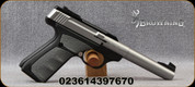 """Browning - 22LR - Buck Mark Camper Stainless UFX - Semi Automatic Rimfire Pistol - UFX Gray Overmolding Grip/Matte Stainless Finish, 5.5"""" Barrel, 10 Round Capacity, Mfg# 051483490"""