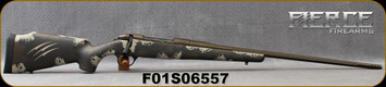 "Fierce - 6.5PRC - Edge - Midnight Brown/Tan Carbon Finish/Midnight Bronze Cerakote Finish, 24""Fluted & Threaded Barrel, Titanium Muzzle Brake, S/N F01S06557"