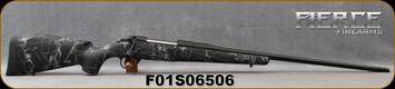 "Fierce - 6.5PRC - Fury - Black w/Grey Web Synthetic Stock/Graphite Black Cerakote Finish, 24""Threaded Barrel, 1:8""Twist, Titanium Muzzle Brake, S/N F01S06506"