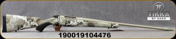 "Tikka - 6.5Creedmoor - T3x Lite Veil Alpine - Bolt Action Rifle - Veil Alpine Camouflage Synthetic Stock/Desert Verde Cerakote, Fluted 24.3""Threaded Barrel, 1:8""Twist, 3 round magazine, single-stage trigger, Mfg# TFTT6337A5709D0M"
