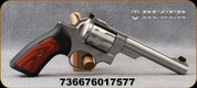"Ruger - 22LR - GP100 - Single/Double Action 10-Round Revolver, Hogue Monogrip/Satin Stainless, 5.5""Barrel, Mfg# 01757"