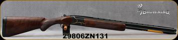"Browning - 20Ga/3""/26"" - Citori Gran Lightning - O/U - Oil finish, Grade V/VI walnut, lightning-style stock/Gold Accent, Intricately Engraved Receiver/Polished Blued Barrels, Extended Midas Grade choke, Mfg# 018117605, S/N 29806ZN131"