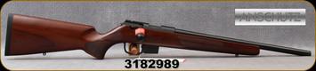 "Anschutz - 22LR - 1761 D HB G-20 Walnut Clasic - Bolt Action Rimfire Rifle - Walnut Classic Hunting Stock/Blued, 18""Threaded(½""-20) Barrel, Mfg# 014633, S/N 3182989"