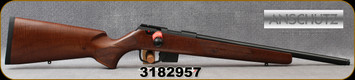 "Anschutz - 22LR - 1761 D HB G-20 Walnut Clasic - Bolt Action Rimfire Rifle - Walnut Classic Hunting Stock/Blued, 18""Threaded(½""-20) Barrel, Mfg# 014633, S/N 3182957"