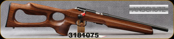 """Anschutz - 22LR - 1416 HB G-20 - Oiled Walnut Thumbhole Stock w/Roll-over cheek piece - Bolt Action Rifle - Walnut Thumbhole Stock/Blued, 13.9""""Threaded Barrel, 5098 two-stage trigger, Mfg# 014708, S/N 3181075"""