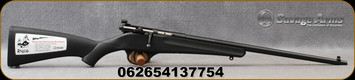 "Savage - 22LR - Rascal - Single Shot Bolt Action Rifle - Black Synthetic Stock/Black Finish, 16"" Barrel, Adjustable Peep Sight, AccuTrigger, Mfg# 13775"