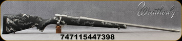 """Weatherby - 240WbyMag - Vanguard Accuguard IBEX - Bolt Action Rifle - IBEX Light Grey/Dark Grey over Black base camo pattern Polymer Stock/Matte Stainless Finish, 24""""Fluted Barrel Adj.Match Quality, Two-stage Trigger, 3 round Hinged Floorplate, Mfg#"""