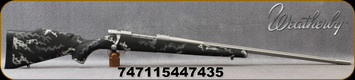"""Weatherby - 30-06Sprg - Vanguard Accuguard IBEX - Bolt Action Rifle - IBEX Light Grey/Dark Grey over Black base camo pattern Polymer Stock/Matte Stainless Finish, 24""""Fluted Barrel Adj.Match Quality, Two-stage Trigger, 3 round Hinged Floorplate, Mfg#"""