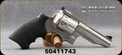 "Used - Ruger - 44Mag - Redhawk Revolver - 6rd Revolver - Black Hogue Grips/Satin Stainless, 4.2""Barrel, Adjustable Sight - Mfg# 5044 - In original case"