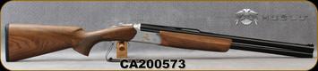 "Huglu - 12Ga/3""/24"" - Ventus Woodcock - Ejectors - Grade AA Turkish Walnut/Silver Receiver w/Gold Inlay/Chrome-Lined Barrels, SKU# 8681715397146, S/N CA200573"