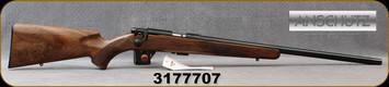 "Anschutz - 22LR - Model 1710 D HB Classic - Oiled Walnut Stock/Blued, 23""Heavy Barrel, Single Stage Trigger, Mfg# 000454, S/N 3177707"