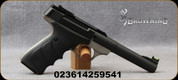 "Browning - 22LR - Buck Mark Practical URX - Single-Action Trigger - Black overmolded ambidextrous grips/matte gray finish/Mattel Black, 5.5""tapered bull barrel, blowback action, adjustable rear sight, fiber-optic front sight, mfg# 051448490"