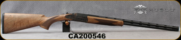 "Huglu - 410Ga/3""/26"" - 103FE Mini - O/U w/Ejectors - Grade AA Turkish Walnut Stock w/Schnabel Forend/Case Coloured Grade V Hand-Engraved Receiver/Chrome-Lined, Vent-Rib Barrels, F/M choke, SKU# 8682109403948-2, S/N CA200546"