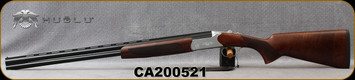 "Huglu - 28Ga/3""/26"" - Hawk - O/U - Extractors - Turkish Walnut/Hand-Engraved Silver Receiver/Chrome-Lined Barrels, 8mm Vent Rib, 5pc. Mobile Choke, SKU: 8682109404990, S/N CA200521"