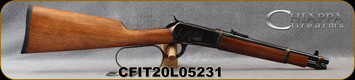 """Chiappa - 44RemMag - 1892 Large-Loop Lever Action Carbine - Walnut Stock/Case Hardened Receiver/Blued, 12""""Round Barrel, 6 round capacity, Mfg# 920.371, S/N CFIT20L05231"""