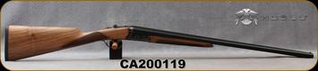 "Huglu - 20Ga/3""/26"" - Model 200A - SxS Single Trigger - Grade AA English Grip Turkish Walnut/Hand-Engraved Case Hardened Receiver/Chrome-Lined Barrels, 5pc. Mobile Choke, Sku: 8681715394824-2, S/N CA200119"