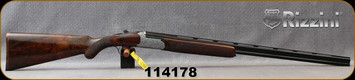 """Rizzini - 410Ga/3""""/28"""" - Round Body EM - Select Grade III Turkish Walnut Stock w/ Checkered Prince of Wales Grip, Rounded Forend/Floral Scroll Engraved Coin Finish Receiver/Blued Barrels, Single Select Trigger, Auto Ejectors, Mfg# 139202, S/N 114178"""