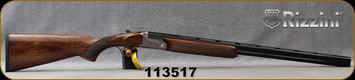 """Rizzini - 28Ga/2.75""""/28"""" - BR110 Light Luxe - Oil-Finish Turkish Walnut Stock w/ Checkered Pistol Grip, Rounded Forend/game scene & ornamental scroll engraving Grey Anodized Receiver/Blued Barrels, Single Select Trigger, Mfg# 139243, S/N 113517"""