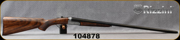 """Rizzini - 16Ga/2.75""""/29"""" - BR550 Round Body - Oil-Finish Turkish Walnut Stock w/ Checkered Pistol Grip, Rounded Forend/Splinter Forend/Ornamental scroll engraved Scalloped Receiver/Blued Barrels, Single Select Trigger, Mfg# 139197, S/N 104878"""
