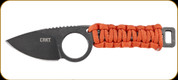 """CRKT - Tailbone - 2.13"""" Blade - 8Cr13MoV - Chain Links Tang (45Mn Carbon Steel), Orange Cord Wrapped Handle - 2415"""
